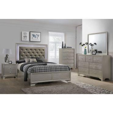Larisa Modern Bed With LED Lights