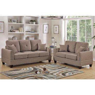 Laurel Coffee Fabric Living Room Set