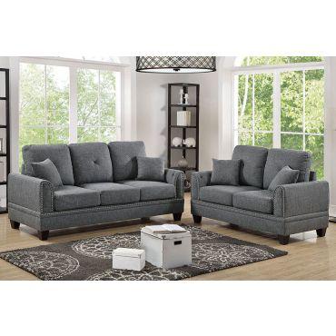 Laurel 2-Piece Fabric Sofa Set