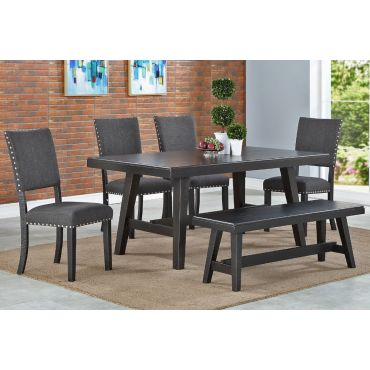 Lavon Black Finish Table Set