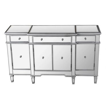 Ledger Mirrored Buffet Cabinet