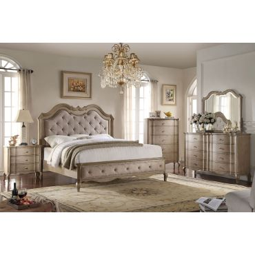 Lemoore Classic Bed Antique Taupe Finish