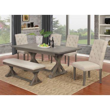 Lenart Mid Century Dining Table Set
