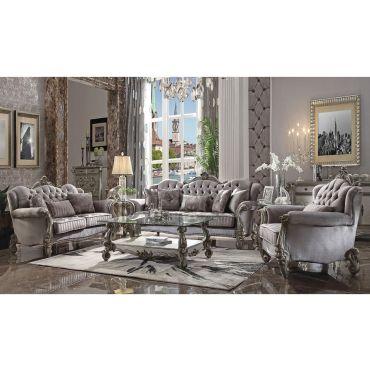 Leonie Platinum Living Room Collection