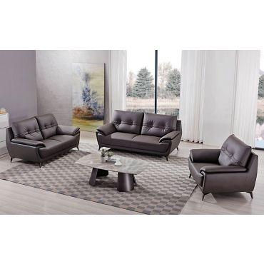 Lina Modern Style Brown Leather Sofa