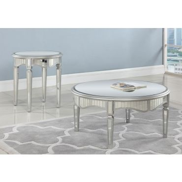 Lindberg Round Mirrored Coffee Table