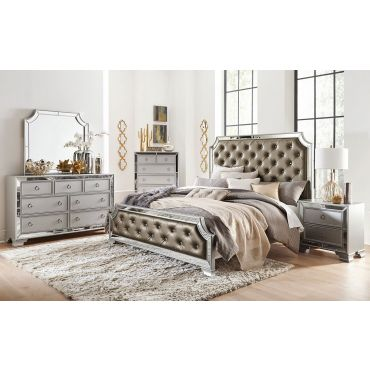 Lizbeth Bedroom Furniture Mirrored Trim