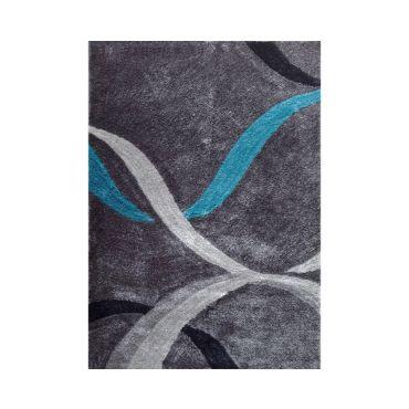 Shag Rug Grey Blue Lola 14
