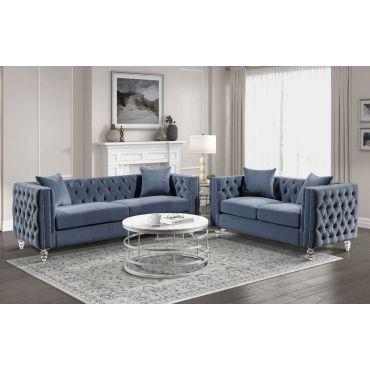 Lorimar Tufted Velvet Sofa Set