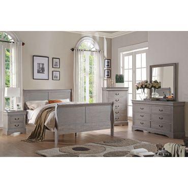 Louis Philippe Antique Grey Bedroom Furniture