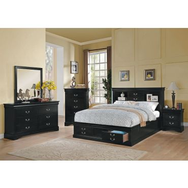 Louis Philippe Storage Bed Collection