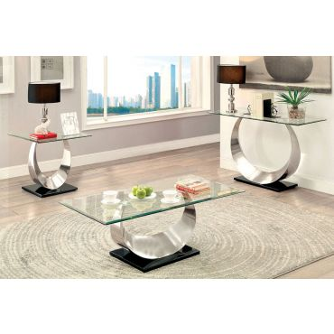 Lucy Modern Glass Top Coffee Table