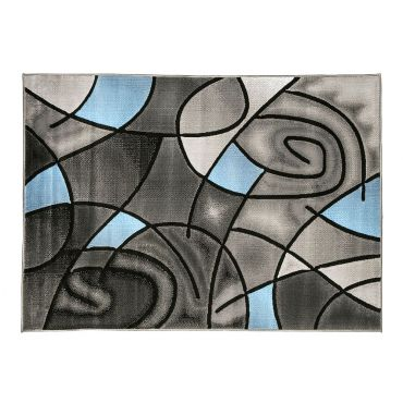 Luna Gray Blue Area Rug