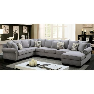 Maggy Grey Fabric Casual Sectional