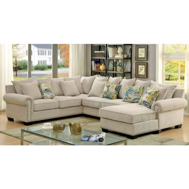 Maggy Casual Sectional Chenille Fabric