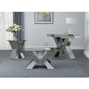 Majestic Mirrored Coffee Table Set