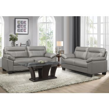 Makeda Genuine Leather Sofa