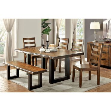 Manfrid Urban Style Rustic Dining Table