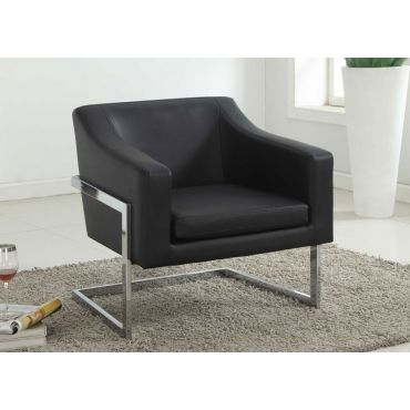 Manny Contemporary Black Accent Chair