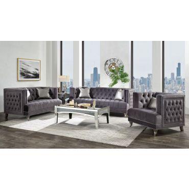 Manolia Modern Sofa Button Tufted Velvet