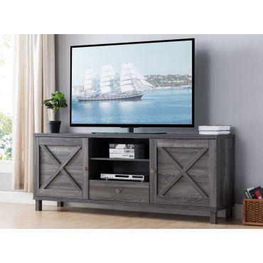 Manzu Industrial Style TV Stand Rustic Grey