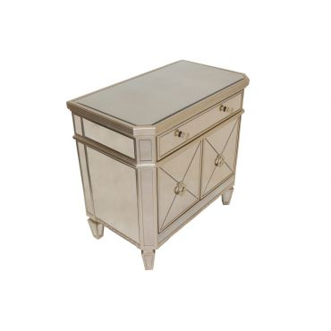 Maras Mirrored Night Stand Chest
