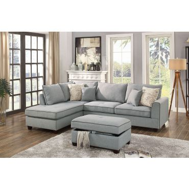 Marcel Sectional With Storage Ottoman
