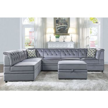 Marcos Crystal Tufted Modular Sectional