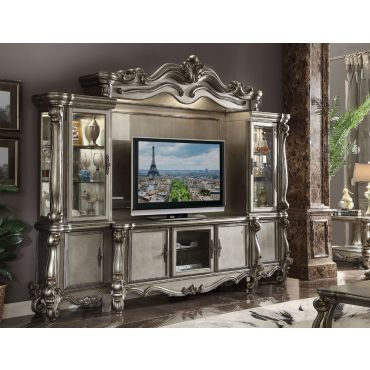 Marlyn Platinum Finish Classic TV Stand