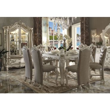 Marlyn Bone White Pub Table Set