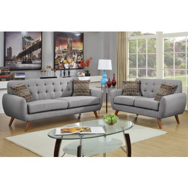 Marnie Grey Linen Living Room Set
