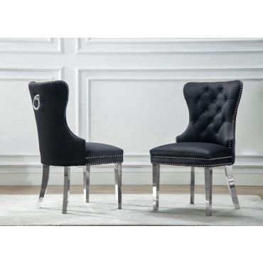 Marshall Black Velvet Chair