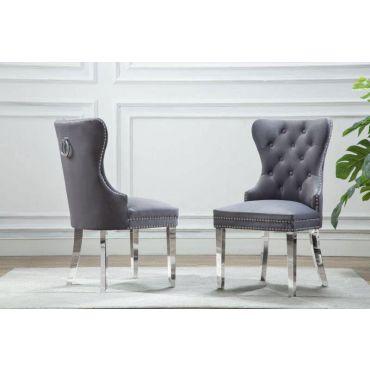 Marshall Gray Velvet Chair