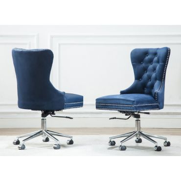 Marshall Blue Velvet Office Chair