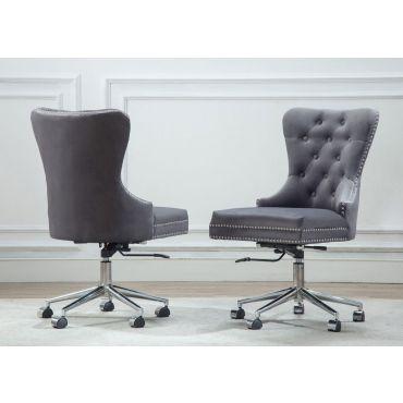 Marshall Office Chair Grey Velvet
