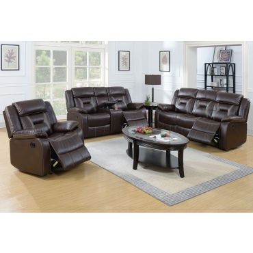 Martin Espresso Leather Recliner Sofa