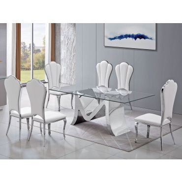 Martin Glass Top Dining Table