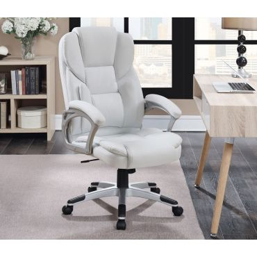 Max Office Chair White Leather
