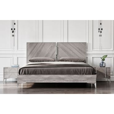 Maxwell High Glossy Finish Platform Bed