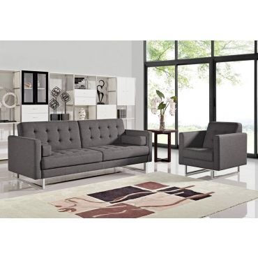 Colvert Modern Grey Fabric Sofa Bed