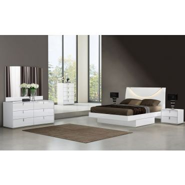 Memphis Modern Platform Bed With Drawers