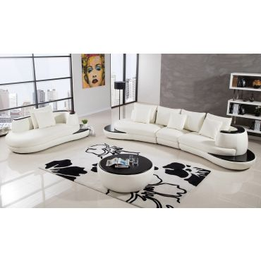 Miami Modern Leather Sectional Set