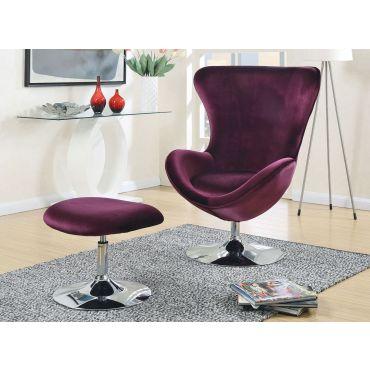 Midori Purple Fabric Accent Chair Set