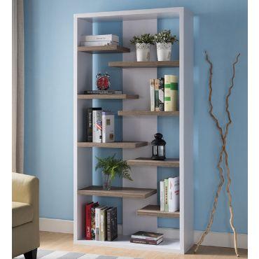 Mileta Modern Two Tone Bookcase