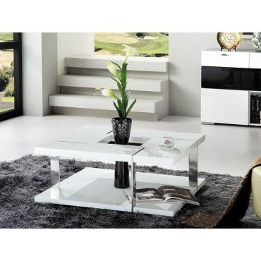 Mirage Modern Coffee Table White Lacquer