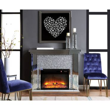 Laverna Mirrored Electric Fireplace