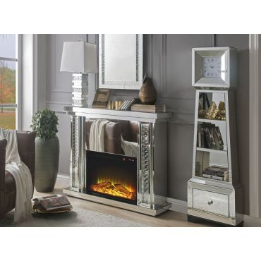 Aanya Mirrored Fireplace