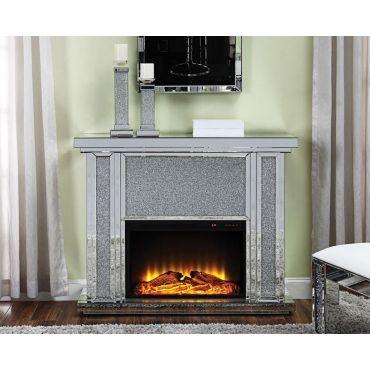 Salina Mirrored Fireplace