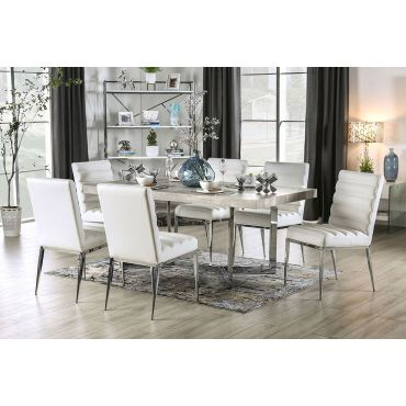 Misu Rustic Grey Top Dining Table