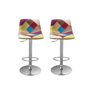Mitzi Modern Fabric Barstool Set of 2
